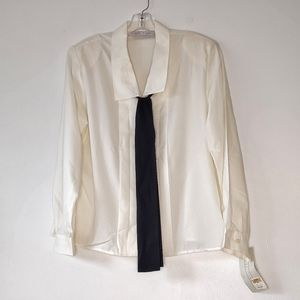 VTG NWT 70s Poly Blouse with Bow 14